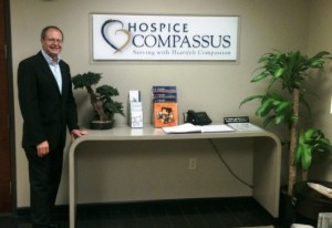 John at Hospice Compassus offices