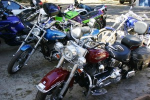 A photo of various bikes